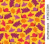 seamless pattern with snails... | Shutterstock .eps vector #692822284