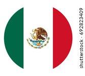 round mexico flag vector icon... | Shutterstock .eps vector #692823409