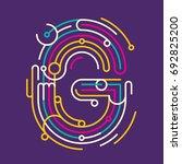 abstract g letter design  made... | Shutterstock .eps vector #692825200