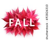 fall sale. realistic autumn... | Shutterstock .eps vector #692826310