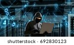 computer privacy attack. mixed... | Shutterstock . vector #692830123