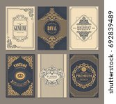 calligraphic vintage floral... | Shutterstock .eps vector #692839489