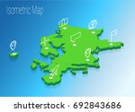 map europe isometric concept.... | Shutterstock .eps vector #692843686