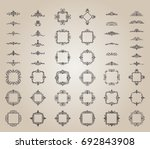 a huge rosette wicker border... | Shutterstock .eps vector #692843908