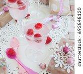 festive drink with fresh... | Shutterstock . vector #692848120
