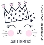 sweet princess girl hand... | Shutterstock .eps vector #692849143