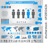 human resources icon set and... | Shutterstock .eps vector #692852626