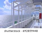 deck of a sea ferry | Shutterstock . vector #692859448