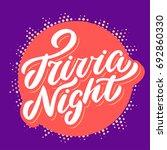 trivia night banner.    Shutterstock .eps vector #692860330
