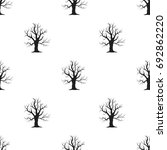 old tree vector icon in black... | Shutterstock .eps vector #692862220
