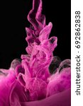 color ink drops in water with... | Shutterstock . vector #692862838