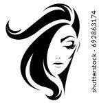 illustration of women short... | Shutterstock .eps vector #692863174