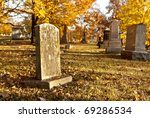 Tombstones In An Old Cemetery...