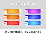 infographics design vector and... | Shutterstock .eps vector #692865463