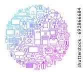household line circle design....   Shutterstock .eps vector #692866684