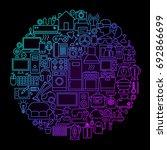 household appliance line circle ... | Shutterstock .eps vector #692866699
