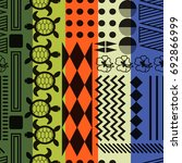 multicolored striped aloha... | Shutterstock .eps vector #692866999