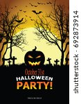 halloween invitation. vector... | Shutterstock .eps vector #692873914