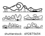 rollercoaster silhouettes... | Shutterstock . vector #692875654