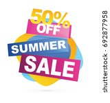 summer sale banner. sale 50off. ... | Shutterstock .eps vector #692877958