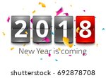 happy new year 2018. new year... | Shutterstock .eps vector #692878708