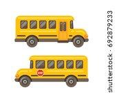 yellow school bus side views... | Shutterstock .eps vector #692879233