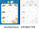 preschool worksheet for... | Shutterstock .eps vector #692881798