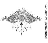 mehndi flower pattern for henna ... | Shutterstock .eps vector #692884894