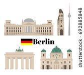 flat building of berlin  travel ...   Shutterstock .eps vector #692885848