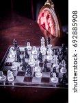 glass international chess | Shutterstock . vector #692885908