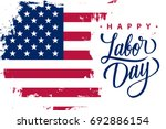 Happy Labor Day Holiday Banner...