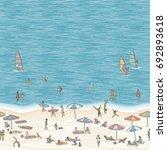 summer illustration of tiny...   Shutterstock .eps vector #692893618