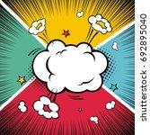 comic book. exploding cloud... | Shutterstock .eps vector #692895040