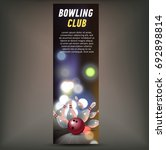 bowling vertical banner with... | Shutterstock .eps vector #692898814