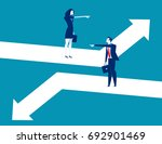 direction. business person... | Shutterstock .eps vector #692901469