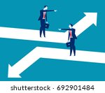 direction. business person... | Shutterstock .eps vector #692901484