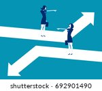 direction. business person... | Shutterstock .eps vector #692901490