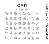 set of car related line icons... | Shutterstock .eps vector #692902840
