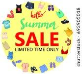 summer sale  big discounts....   Shutterstock .eps vector #692905018