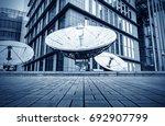 picture of parabolic satellite... | Shutterstock . vector #692907799