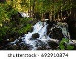 upper peninsula michigan... | Shutterstock . vector #692910874