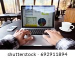 hands of casual business person ... | Shutterstock . vector #692911894