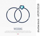 wedding rings thin line icon ... | Shutterstock .eps vector #692915218