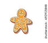 gingerbread man cookie vector... | Shutterstock .eps vector #692915848