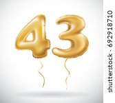 vector golden 43 number forty... | Shutterstock .eps vector #692918710