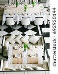 stylish black and white dining... | Shutterstock . vector #692920144