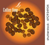 coffee time design poster with... | Shutterstock .eps vector #692934934