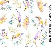 watercolor seamless pattern... | Shutterstock . vector #692934940