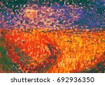 acrylic painting of surreal... | Shutterstock . vector #692936350