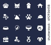 set of 16 pets icons set... | Shutterstock .eps vector #692936458